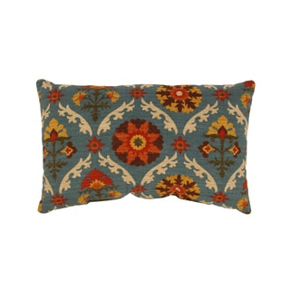 Mayan Medallion Rectangular Throw Pillow in Adobe