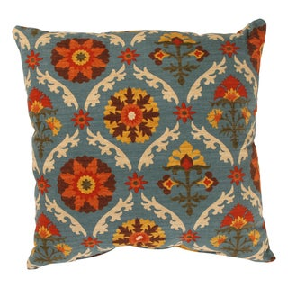 Pillow Perfect Mayan Medallion Polyester Throw Pillow in Adobe