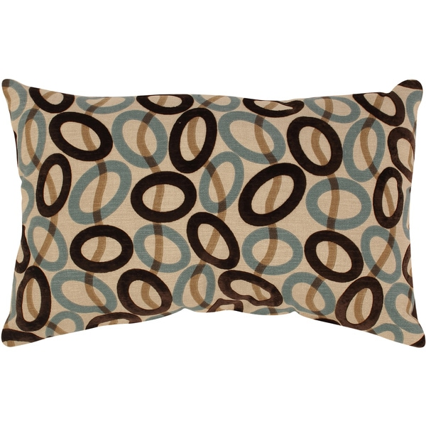 Velvet Circles Rectangular Throw Pillow