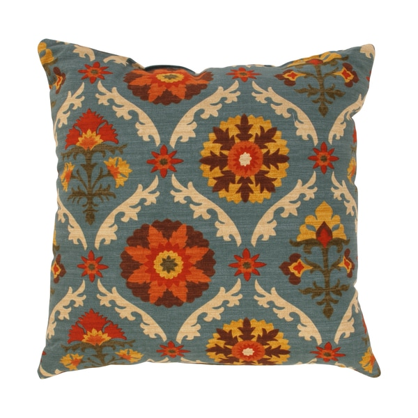Pillow Perfect Mayan Medallion Throw Pillow in Adobe