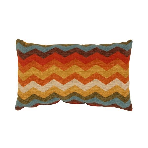 Pillow Perfect Panama Wave Rectangular Throw Pillow in Adobe