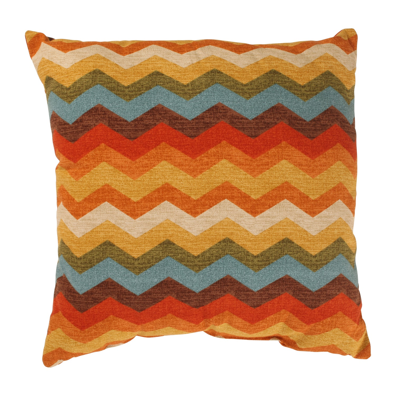 Panama Wave 18-inch Adobe Throw Pillow