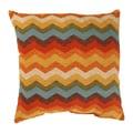 Panama Wave 16.5-inch Adobe Throw Pillow