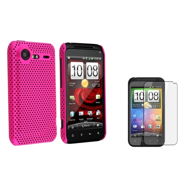 Pink Mesh Case/ Screen Protector for HTC Droid Incredible II S