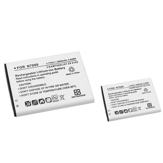 Compatible Battery for Samsung Galaxy Note GT-N7000/ i9220 (Pack of 2)