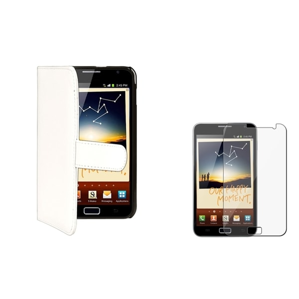 INSTEN White Card Holder Phone Case Cover/ Protector for Samsung Galaxy Note N7000