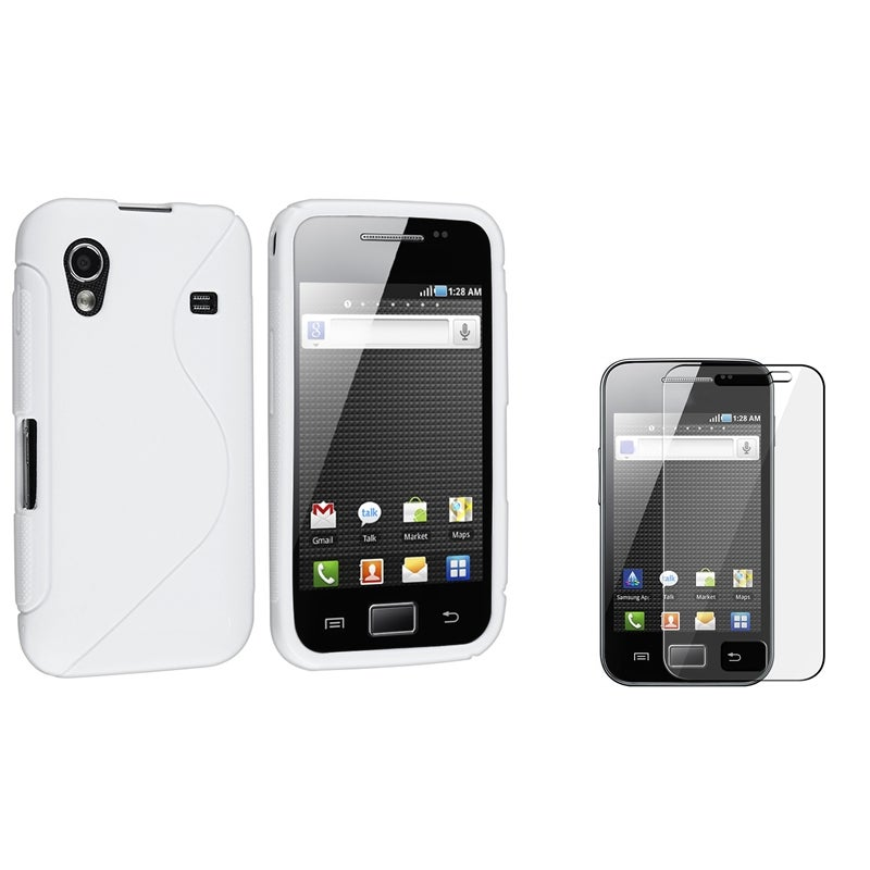 INSTEN Frost White S Shape TPU Phone Case Cover/ Protector for Samsung Galaxy Ace S5830