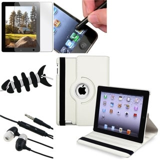 White Case/ LCD Protector/ Headset/ Wrap/ Stylus for Apple iPad 3