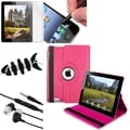 BasAcc Hot Pink Case/ LCD Protector/ Headset/ Stylus/ Wrap for Apple iPad 3/ 4