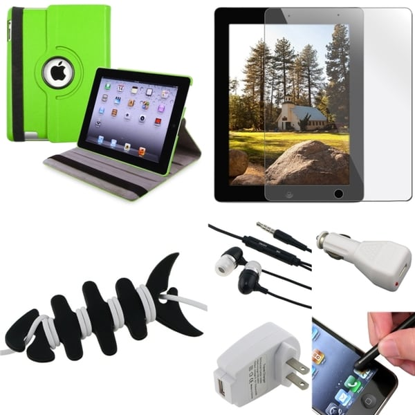Green Case/ Protector/ Headset/ Chargers/ Stylus for Apple iPad 3