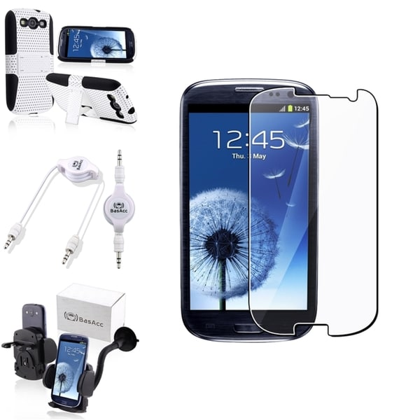 BasAcc Case/ Protector/ Car Mount/ Cable for Samsung Galaxy S III/ S3