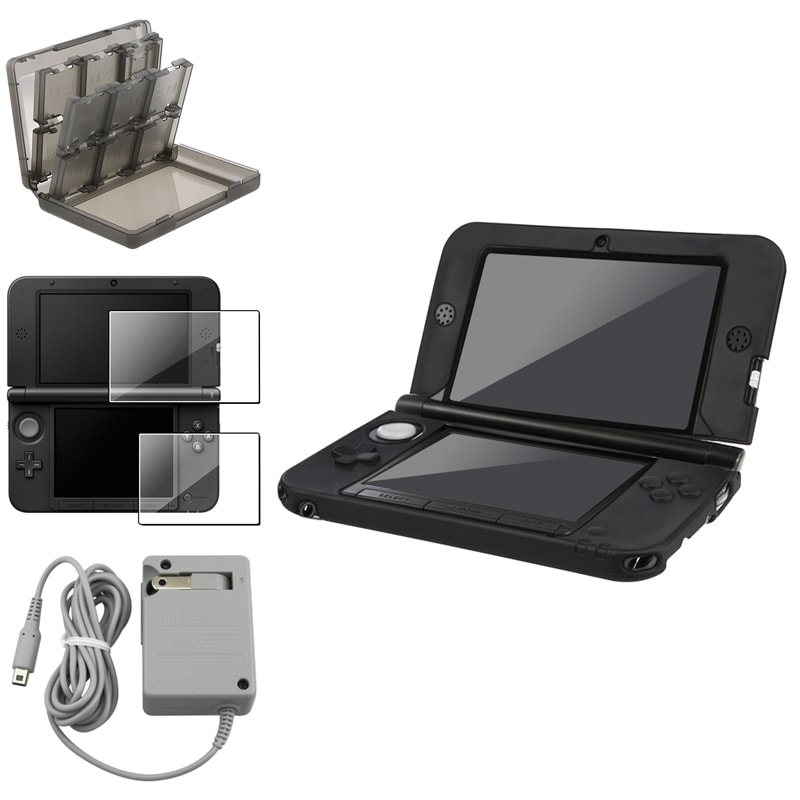 BasAcc Black Case/ Protector/ Charger/ Game Case Nin 3DS