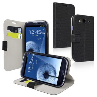 BasAcc Black Case with Card Holder for Samsung Galaxy S III/ S3 i9300