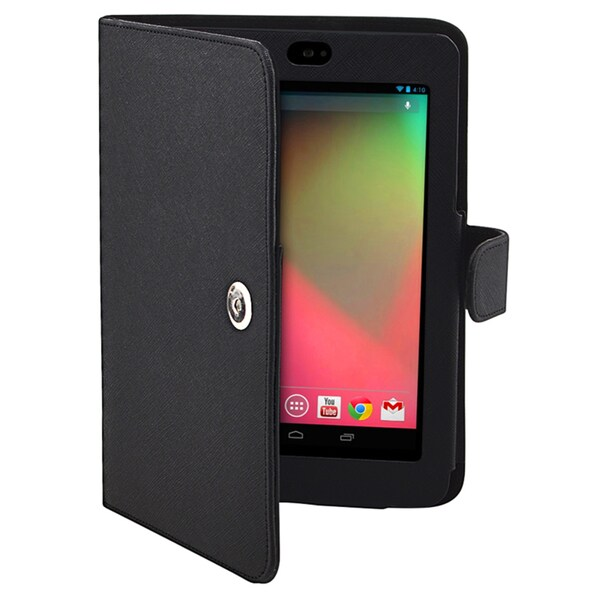 BasAcc Black Leather Case for Google Nexus 7
