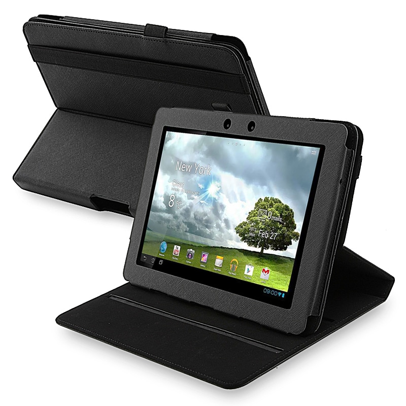 BasAcc Black Leather 360-degree Swivel Case for Asus Transformer TF700