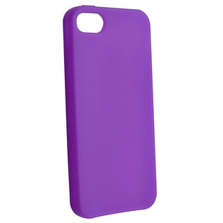 BasAcc Purple Silicone Case for Apple iPhone 5/ 5S