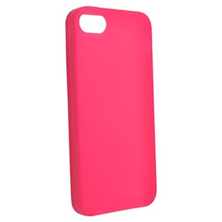 BasAcc Hot Pink Silicone Case for Apple iPhone 5