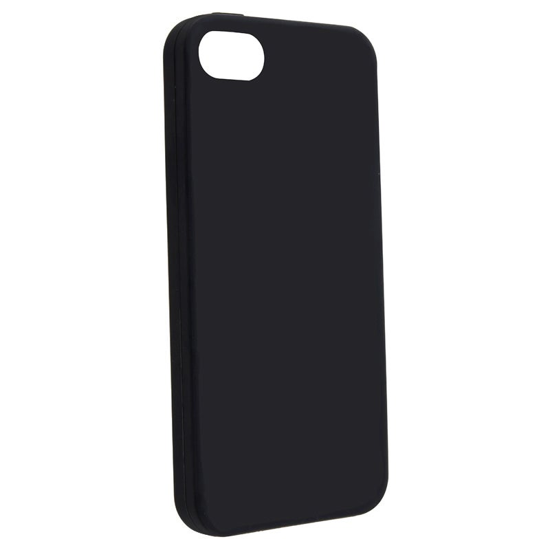 INSTEN Black Soft Silicone Phone Case Cover for Apple iPhone 5/ 5S