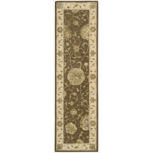 Nourison 3000 Hand-tufted Brown Rug (2'6 x 12') Runner
