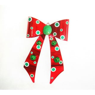 Red/ Green Metal Bow