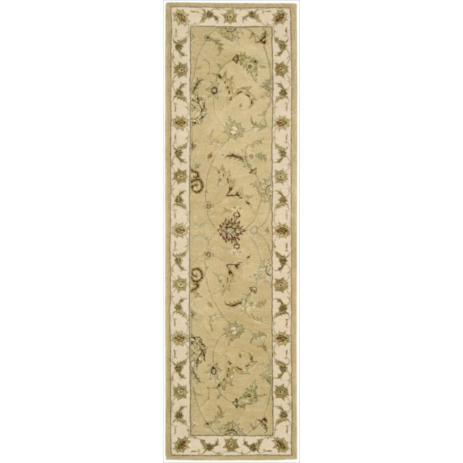 Nourison 3000 Hand-tufted Yellow Rug (2'6 x 12') Runner