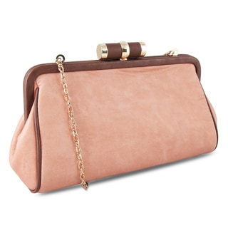 M by Miadora 'Lady Pia' Soft Blush Clutch
