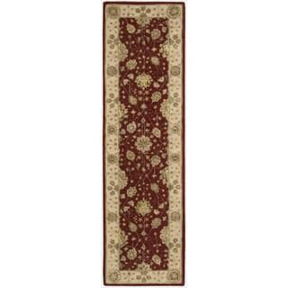 Nourison 3000 Hand-tufted Red Wool Rug (2'6 x 12') Runner