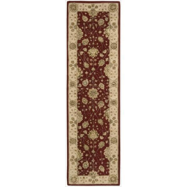 Nourison 3000 Hand-tufted Red Wool Rug (2'6 x 12') Runner