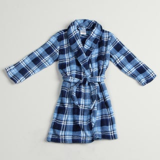 Calvin Klein Boy's Blue Plaid Robe