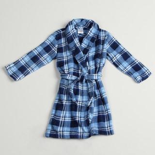 Calvin Klein Boy's Blue Plaid Robe