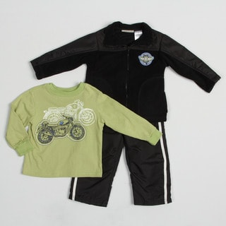 Kids Headquarters Infant Boy's Motorcycle Graphic 3-piece Set