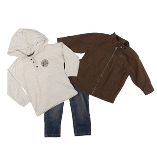 Kenneth Cole Toddler Boy's 3-piece Jacket and Denim Pants