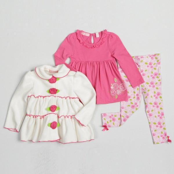 Kids Headquarters Toddler Girl's Floral Print Legging 3-piece Set