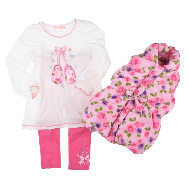 Kids Headquarters Girl's 3-piece Pink Ballet Set