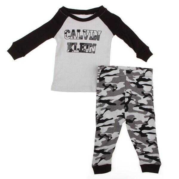Calvin Klein Infant Boy's Camo Print Pajama Set