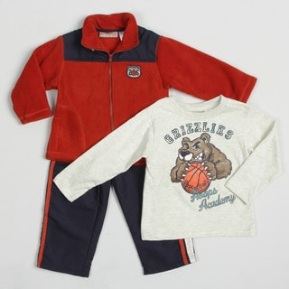 Kids Headquarters Boy's (4-7) Basketball Graphic 3-piece Set FINAL SALE