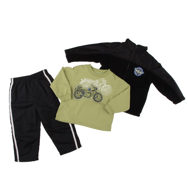 Kids Headquarters Toddler Boy's Motorcycle Graphic 3-piece Set