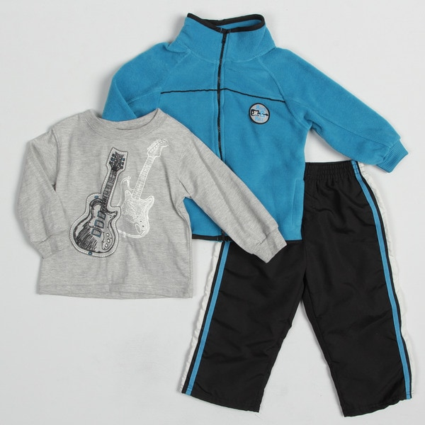 Kids Headquarters Toddler Boy's Guitar Graphic 3-piece Clothing Set