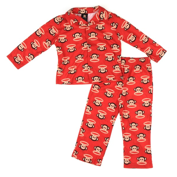 Small Paul by Paul Frank Toddler Boys' 2-piece Monkey Face Pajama Set
