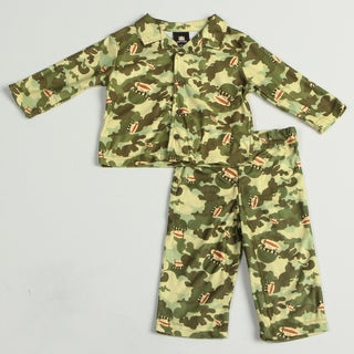 Small Paul by Paul Frank Infant Boy's 2-piece Monkey Head Camo Pajama Set