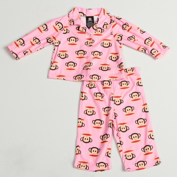 Small Paul by Paul Frank Infant Girl's 2-piece Monkey Face Print Pajama Set