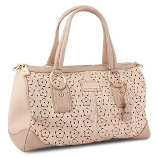 Miadora 'Connie' Blush Laser-cut Satchel