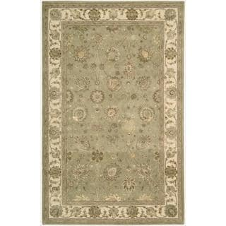 Nourison 3000 Hand-tufted Green Rug (2'6 x 4'2)
