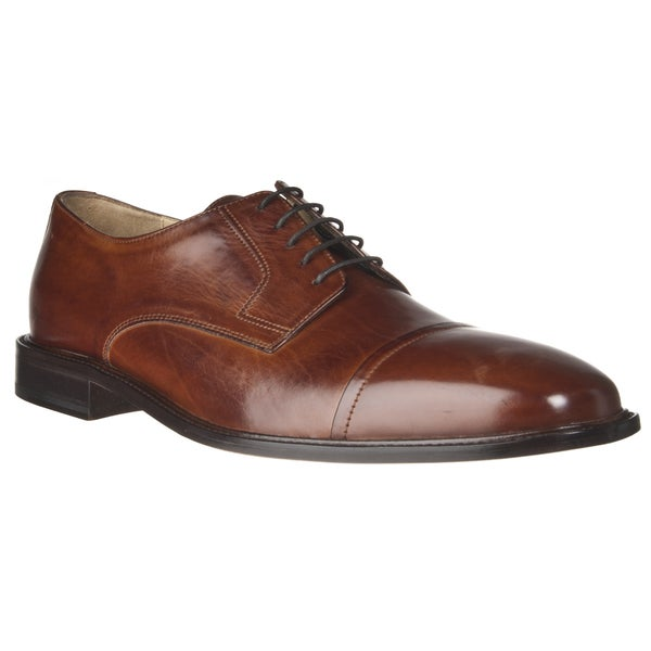 J Murphy by Johnston & Murphy Men's Leather Cover Toe Oxfords
