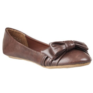Riverberry Women's 'Hunter' Bow-detail Ballet Flats