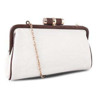 M by Miadora 'Lady Pia' Soft Cream Clutch