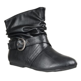 Riverberry Women's 'Tinker' Strappy-detail Slouch Bootie