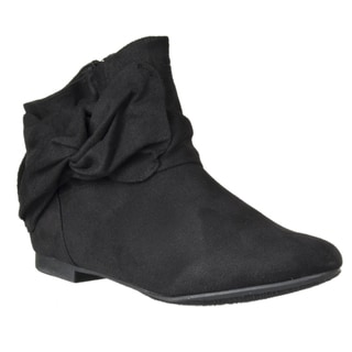Riverberry Women's 'Tiara' Knot-detail Microsuede Ankle Bootie