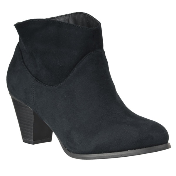 Riverberry Women's 'Saratoga' Microsuede Ankle Bootie
