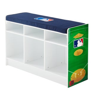 My Owner's Box Licensed MLB Three-cube Bench Storage Organizer